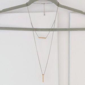 Double Bar Blogger Necklace